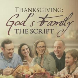 Thanksgiving: God's Family