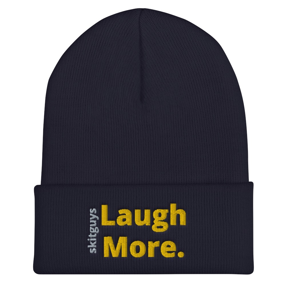 Laugh More Cuffed Beanie
