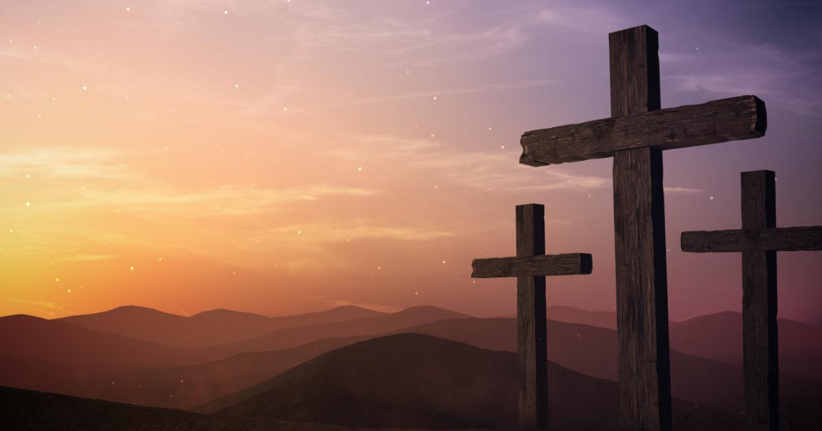 Easter Sunrise Crosses Motion Background   The Skit Guys
