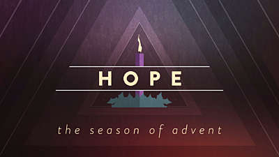 Christmas Advent Candles Hope