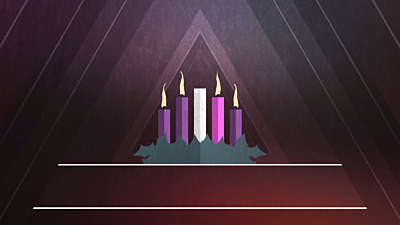 Christmas Advent Candles Week 04 Blank