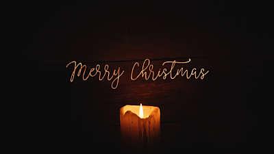 Christmas Candles Merry Christmas