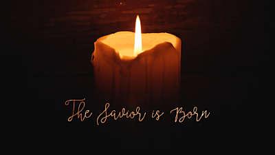 Christmas Candles Savior Born