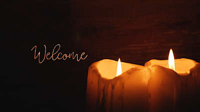 Christmas Candles Welcome