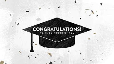 Confetti Graduation Title