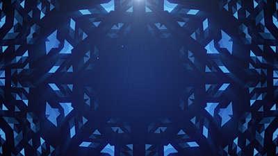 Crystal PatternsIce Blue
