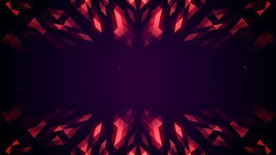 Crystal Patterns Red Depths