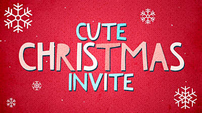 Cute Christmas Invite