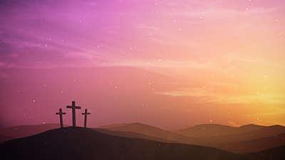 Easter Sunrise Calvary Distant