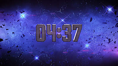 Galaxy Glass Dubstep Countdown