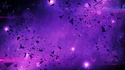 Galaxy Glass Purple Storm