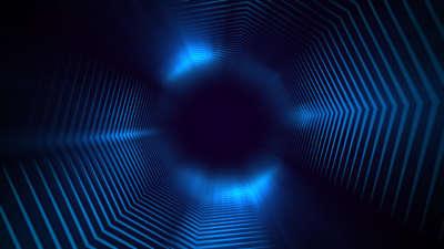Geo Depths Blue Tunnel