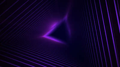 Geo Depths Purple Triangle