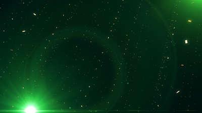 Golden Drift Emerald Green