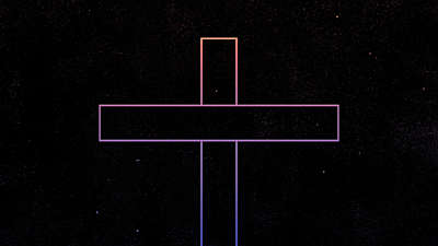 Gradient Easter Cross