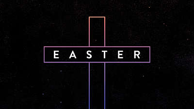 Gradient Easter Cross Title