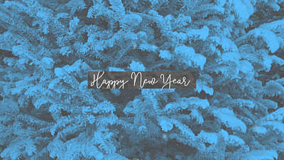 Modern Winter Trees Happy New Year
