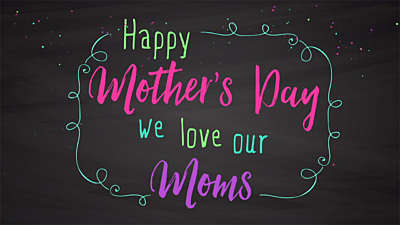 Mother's Day Chalk Mothers Day