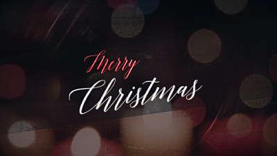 Nighttime Christmas Merry Christmas