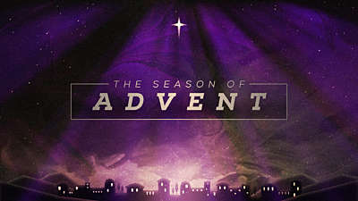 Painted Christmas Advent Title