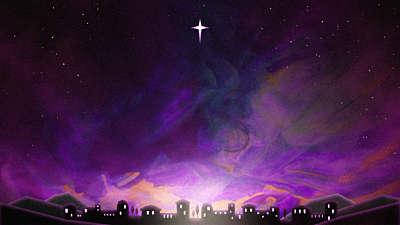 Painted Christmas Bethlehem