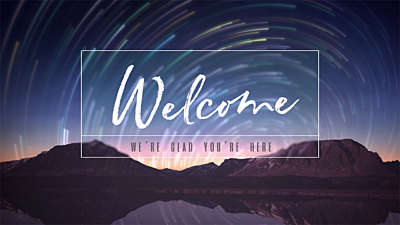Star Trails Welcome