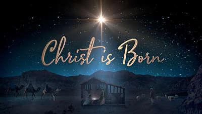 Starry Night Nativity Christ is Born