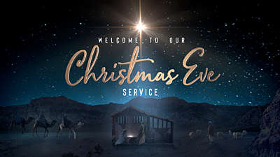 Starry Night Nativity Christmas Eve