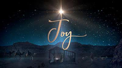 Starry Night Nativity Joy