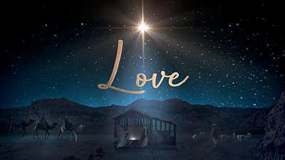 Starry Night Nativity Love