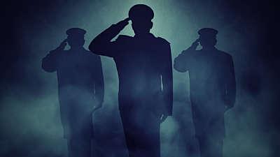 Veterans Salute Blue