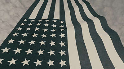 Vintage Waving American Flag 06