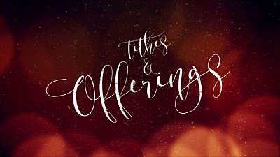 Warm Christmas Glow Tithes & Offerings