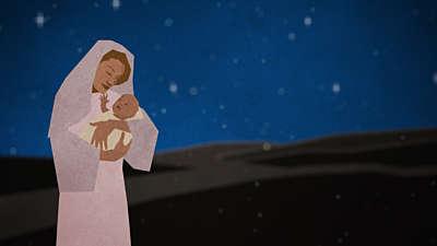 Christmas Artwork Mary Baby