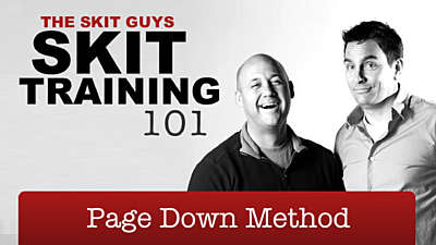 Skit Training 101: Page Down Method
