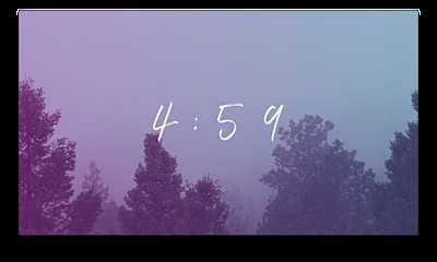 Misty Forest Countdown