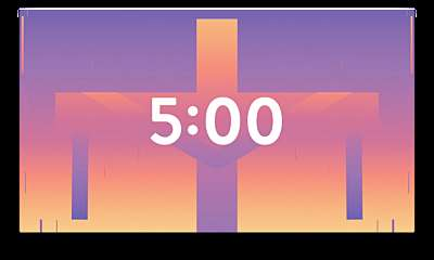 Gradient Easter Countdown