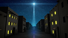 Bethlehem Night City Street