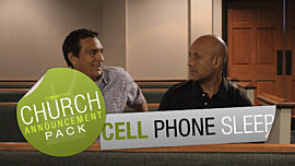 Church Announcement: Cell Phone Sleep