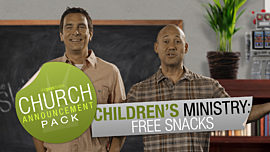 Church Announcement: Children Ministry Free Snacks