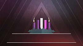 Christmas Advent Candles Week 02 Blank