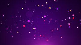 Confetti Purple