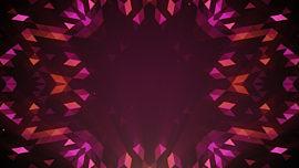 Crystal Patterns Orange Pink