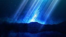 Galaxy Rays Ocean