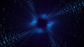 Geo Depths Blue Tiles