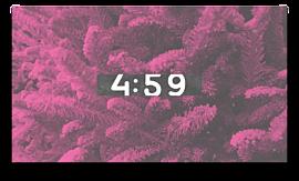 Modern Winter Trees Countdown