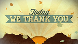 Today We Thank You