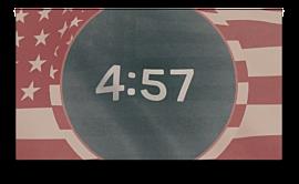 Vintage Waving American Flag Countdown