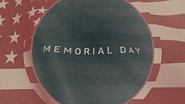 Vintage Waving American Flag Memorial Day