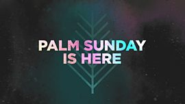 Palm Sunday Is Here